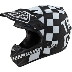 Troy Lee Designs SE4 Polyacrylite Checker MIPS Adult Off-Road Helmets (NEW)