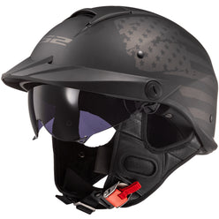 LS2 Rebellion 1812 Half Face Adult Cruiser Helmets (NEW - MISSING TAGS)