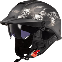 LS2 Rebellion Bones Adult Cruiser Helmets (BRAND NEW)