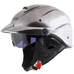 LS2 Rebellion Solid Half Face Adult Cruiser Helmets
