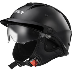 LS2 Rebellion Solid Half Face Adult Cruiser Helmets (NEW - MISSING TAGS)