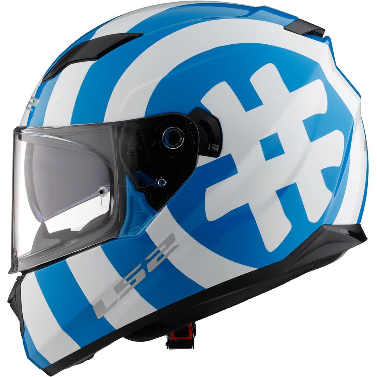 LS2 Stream Hashtag Full Face With Sunshield Adult Street Helmets-328