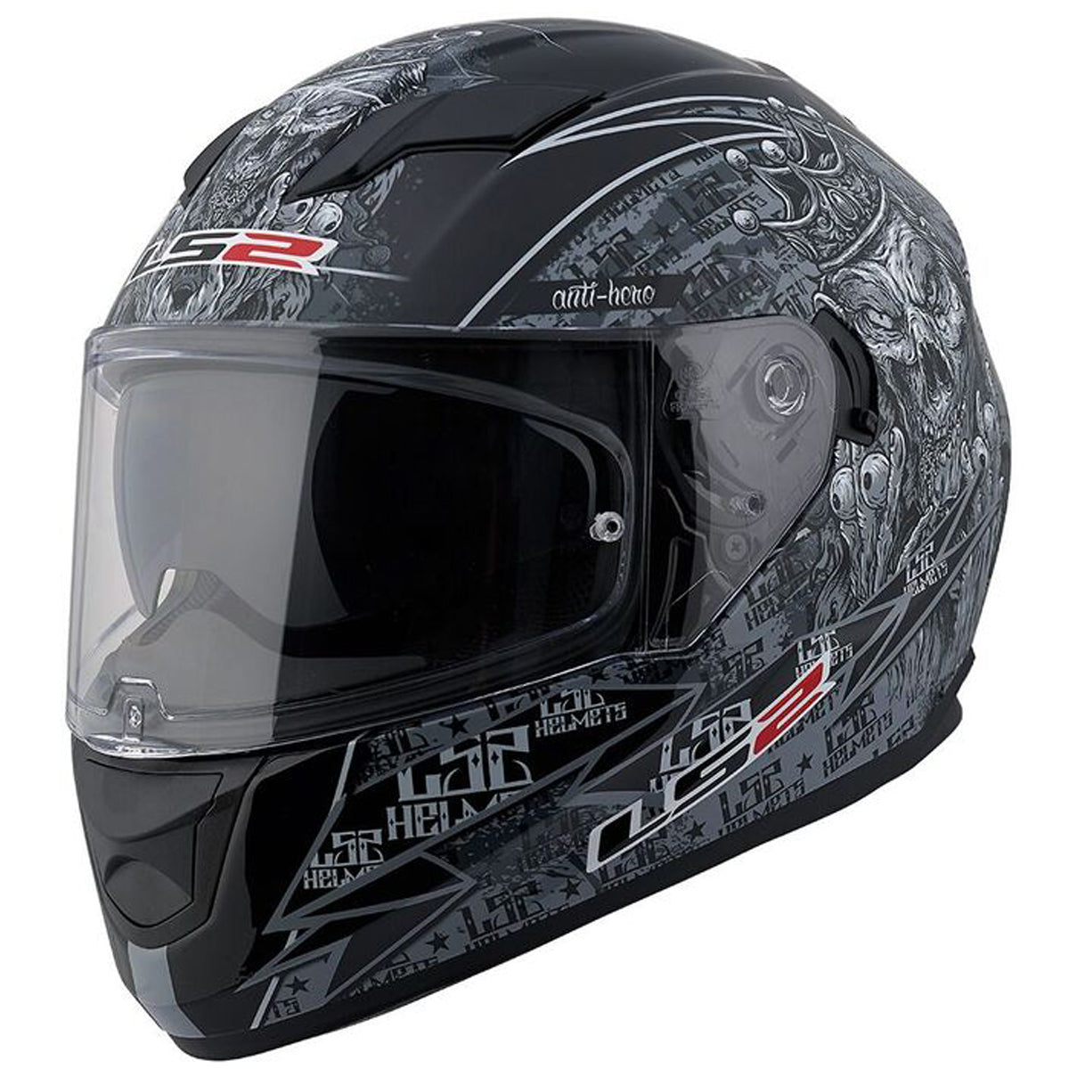 LS2 Stream Anti-Hero Full Face Adult Street Helmets-328