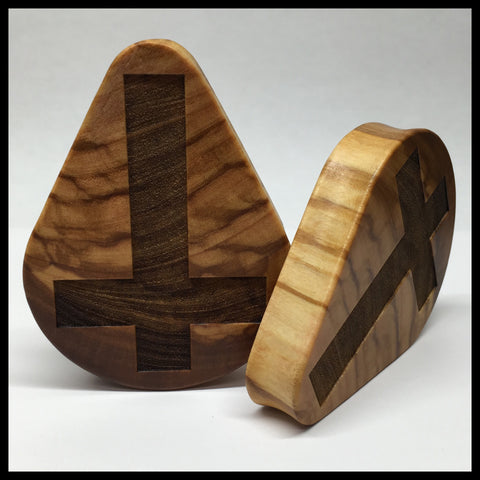 Olivewood Inverted Cross Teardrop