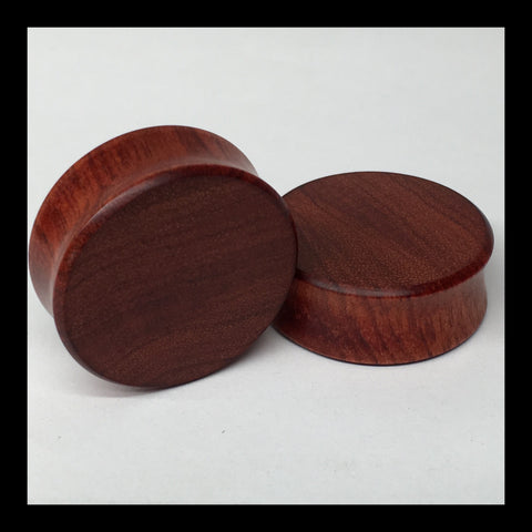 Bloodwood Solid Organic Wood Plugs