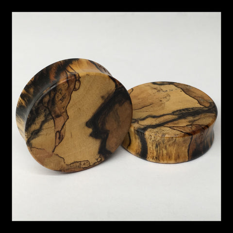 Black & White Ebony Solid Organic Wood Plugs
