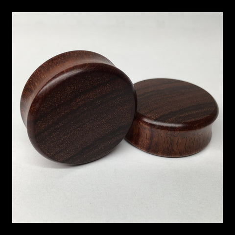 Granadillo Solid Organic Wood Plugs