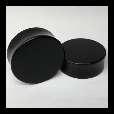 Ebony Solid Organic Wood Plugs