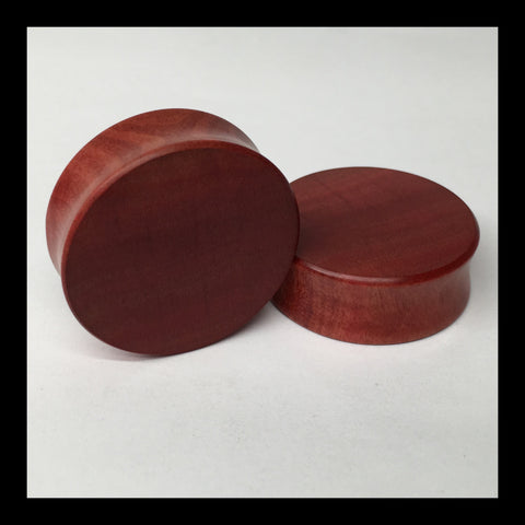 Pink Ivory Solid Organic Wood Plugs
