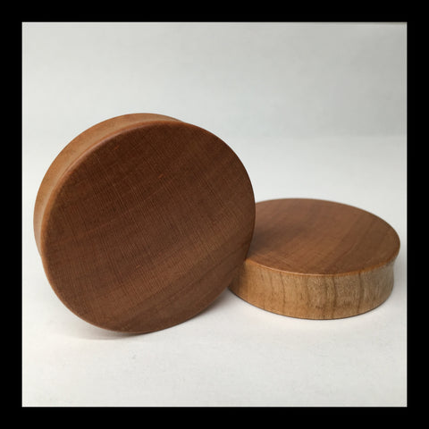 Cherry Solid Organic Wood Plugs