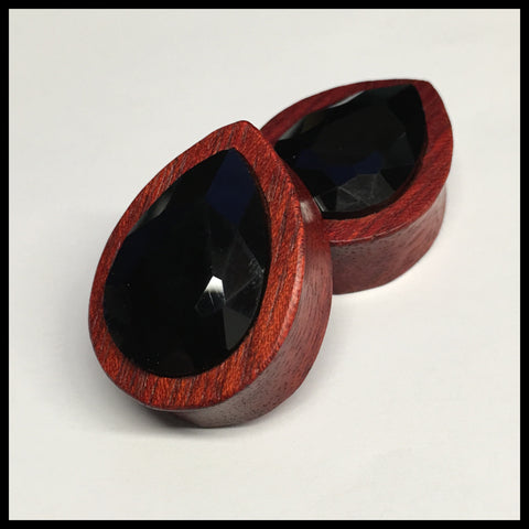 Bloodwood Black Swarovski Large Teardrop