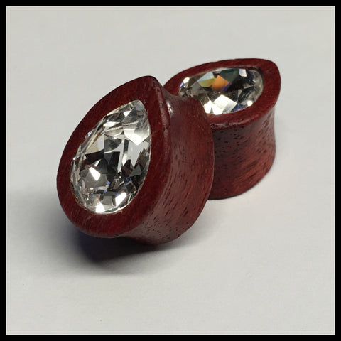 Bloodwood Swarovski Small Teardrop
