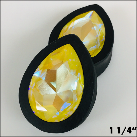 Ebony Swarovski Large Sunshine Delite Teardrop