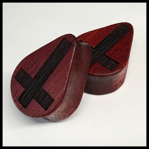 Bloodwood Inverted Cross Teardrop
