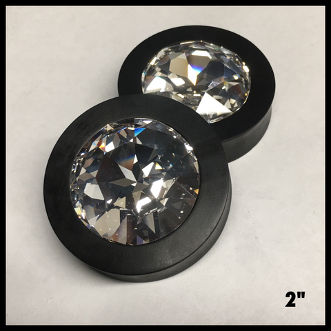Ebony XL Swarovski Crystal Round Plugs
