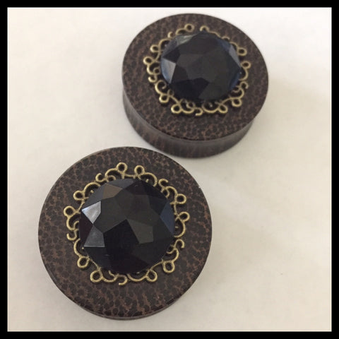 Black Palm Black Gem Bronze Setting