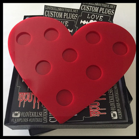 Red Heart Plug  Jewelry Tray