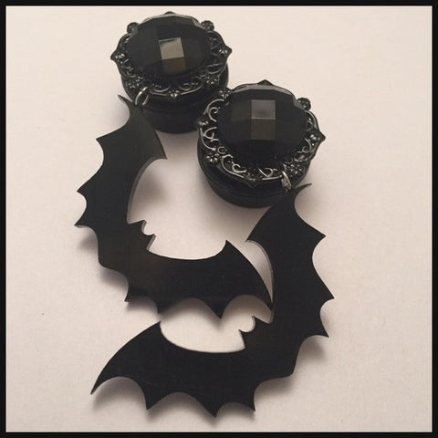 Bat Attack Gem Dangle Plugs