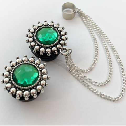 Green With Envy Ear Cuffs