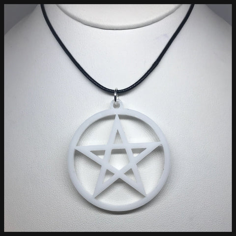 White Pentacle Necklace
