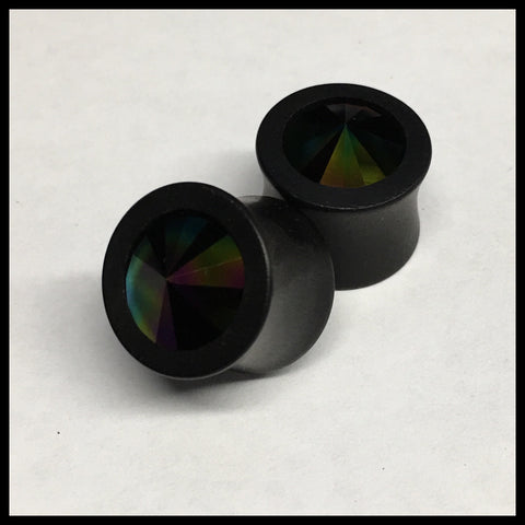 Ebony Swarovski Rainbow Green