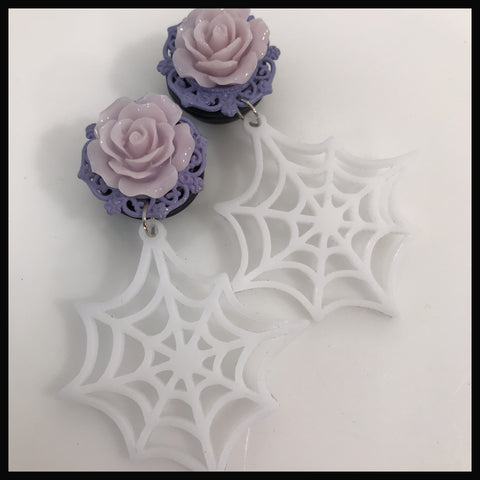 Pastel Rose Spiderweb