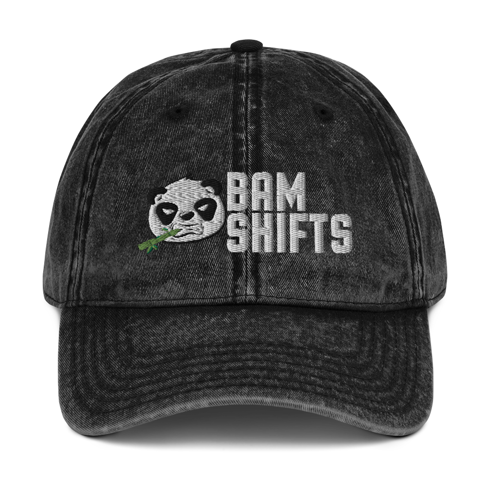 BAM SHIFTS Vintage Cotton Twill Cap