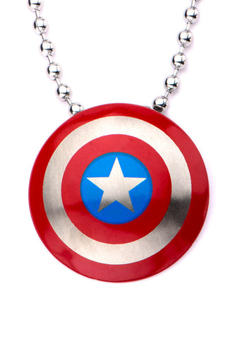 Captain America Logo Stainless Steel Necklace