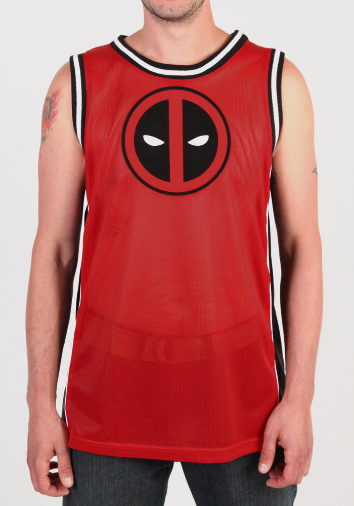 Deadpool Minimal Eyes Jersey Tank Top