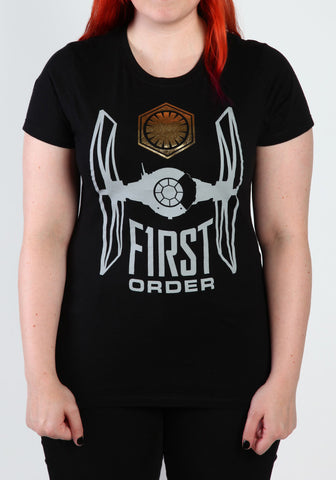 Force Awakens First Order Gold Foil Junior T-Shirt