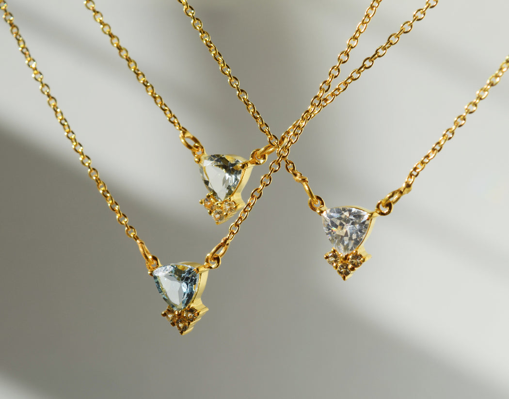 COLETTE - Necklace with Blue Topaz