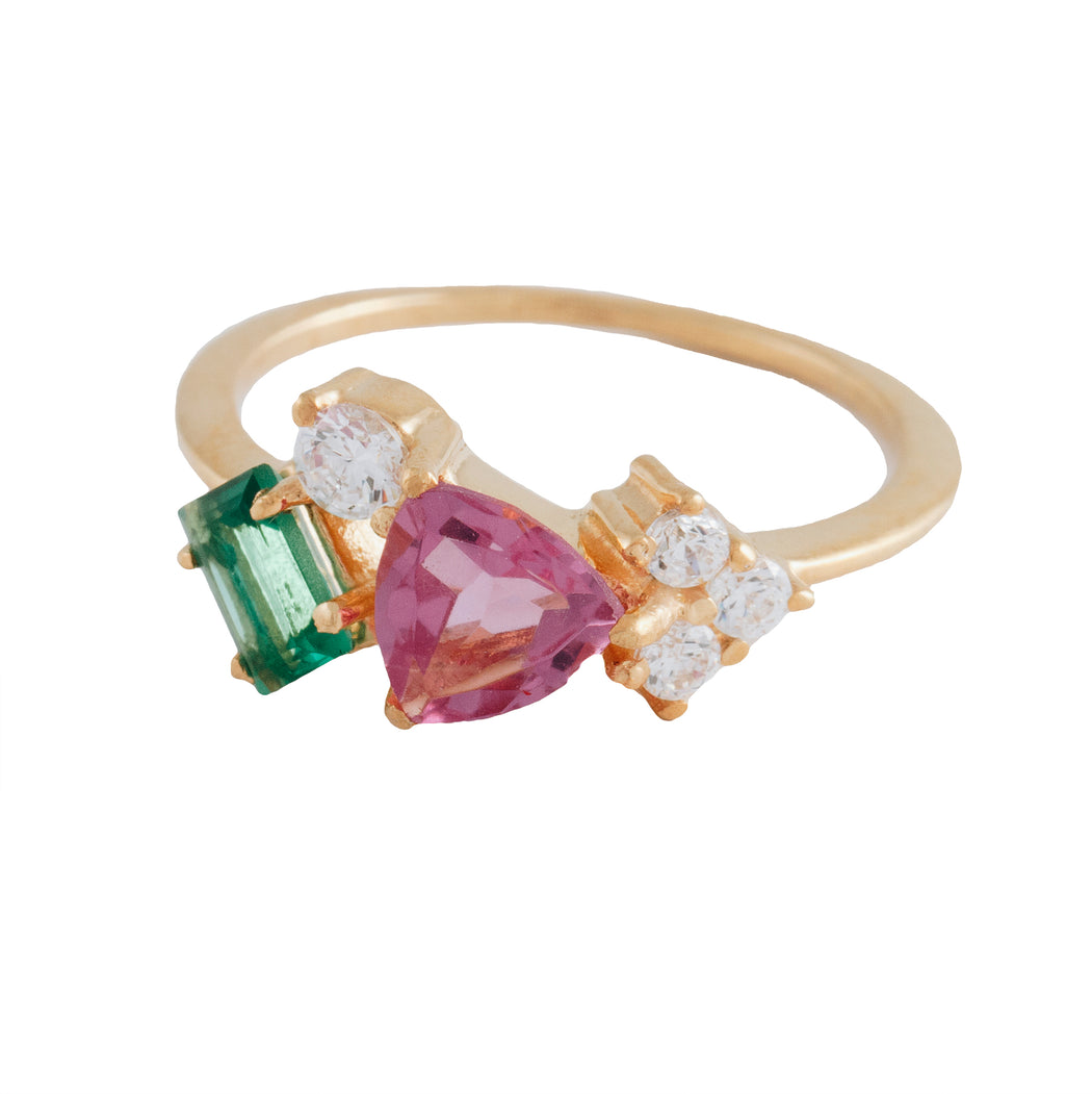 DEMETRIA - Cocktail Ring with Mixed Stones