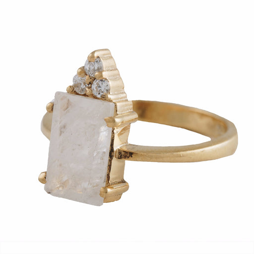 MIREYA - Cocktail Ring with Moonstone
