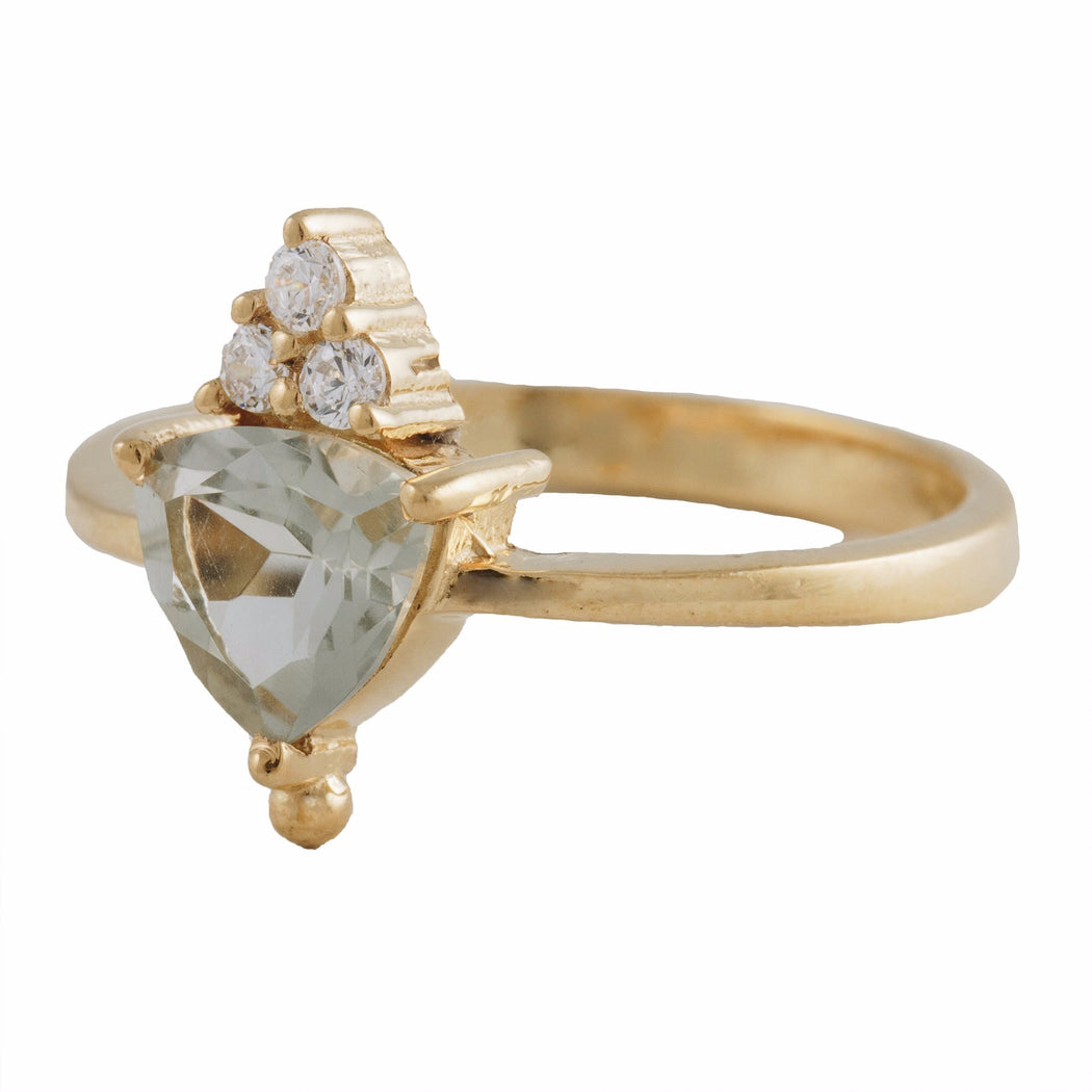 VALENTINA - Ring with Green Amethyst