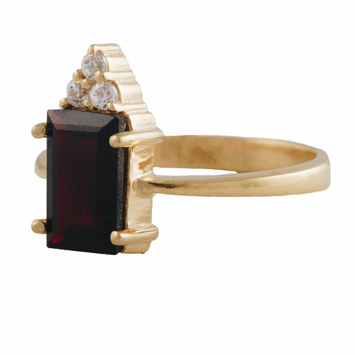 MIREYA - Cocktail Ring with Blood Garnet