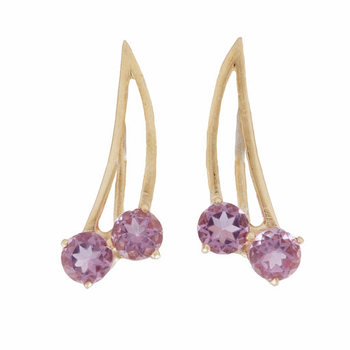 MON CHERRY - Ear Climbers with Amethyst