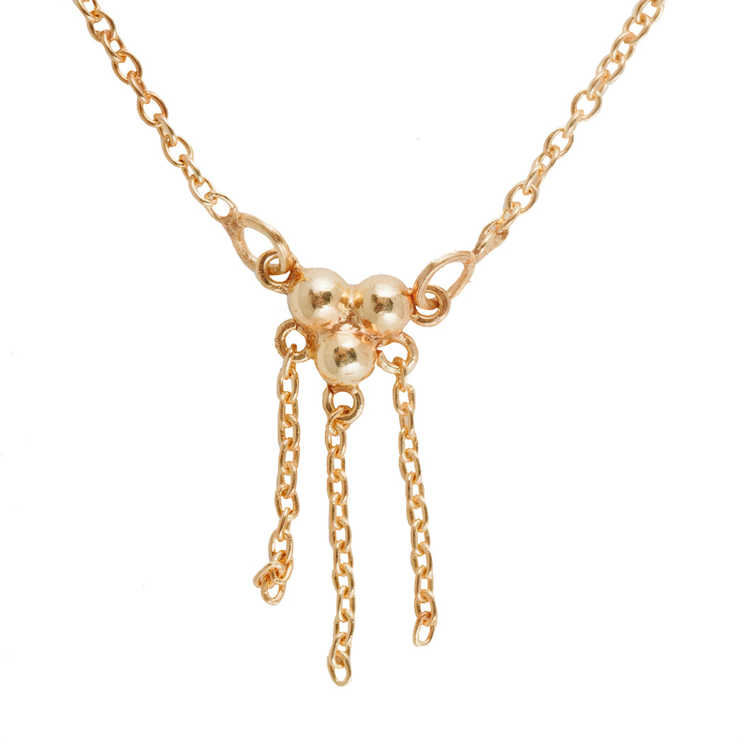TRIPLE DRIP - Necklace with Chain Detail