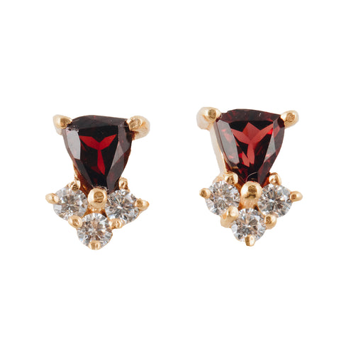 MEHVASH - Stud Earrings with Blood Garnet