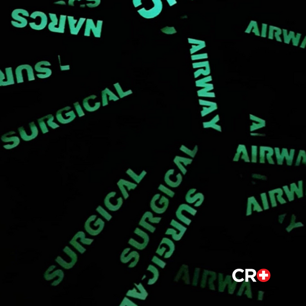 NARCS, AIRWAY, SURGICAL Name Tape Set | CRO Medical Gear