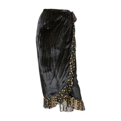 Yves Saint Laurent Velvet Wrap Skirt