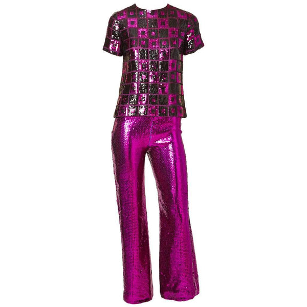 Dior Boutique Sequined Evening Pant Ensemble