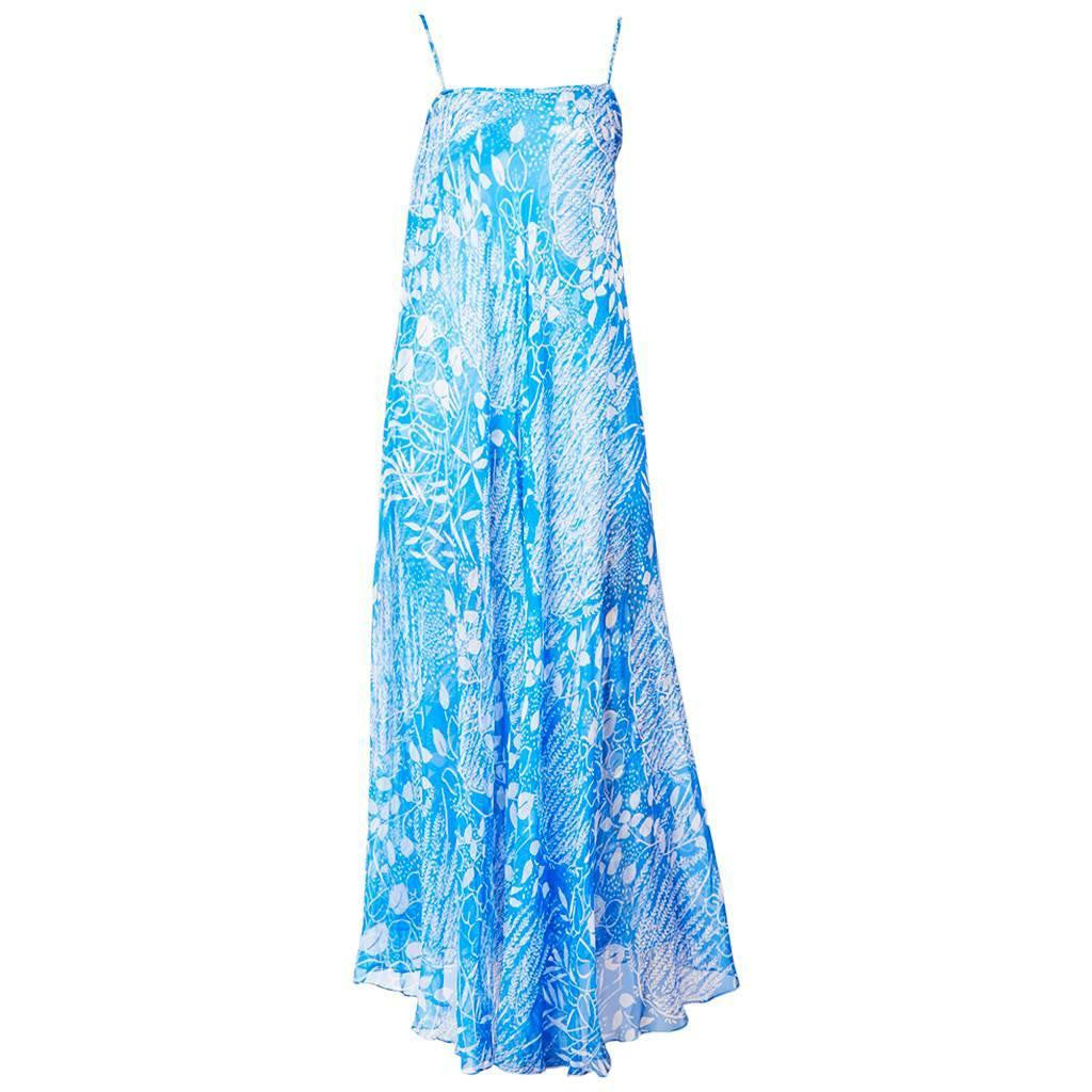 Yves Saint Laurent Chiffon Maxi Dress