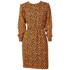 Yves Saint Laurent Paisley Patterned Day Dress