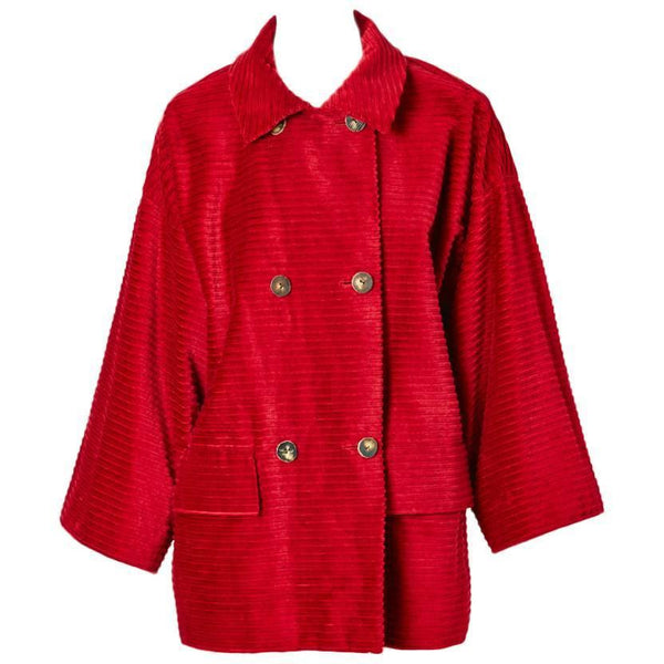 Bill Blass Wide Wale Corduroy Car Coat