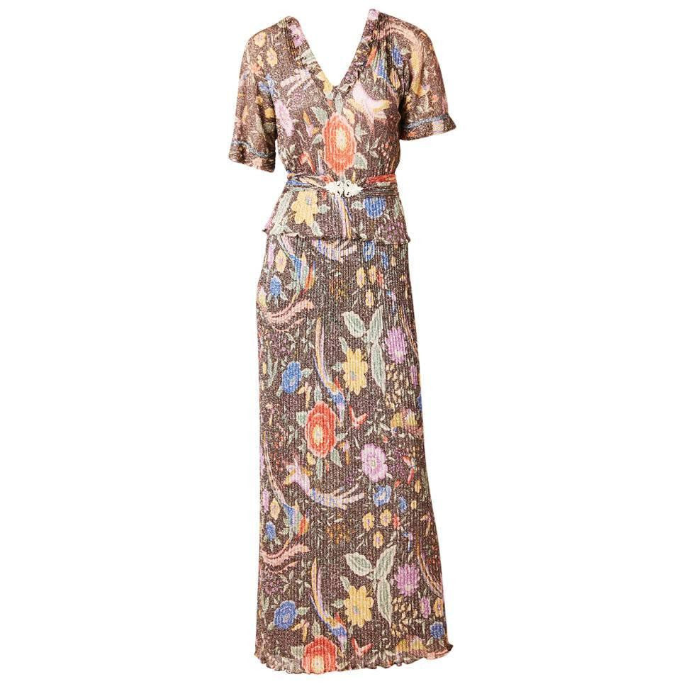 Missoni Floral Lurex Knit Maxi Ensemble