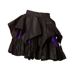 Angelo Tarlazzi Taffeta Tiered Mini Skirt