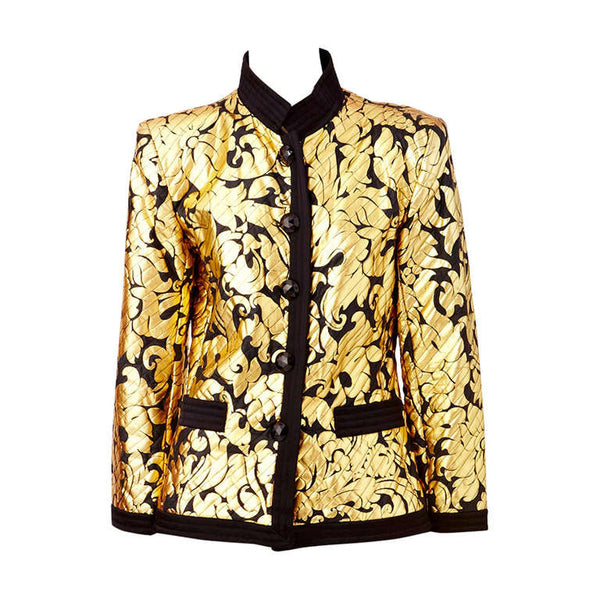 Yves Saint Laurent Black and Gold Evening Jacket