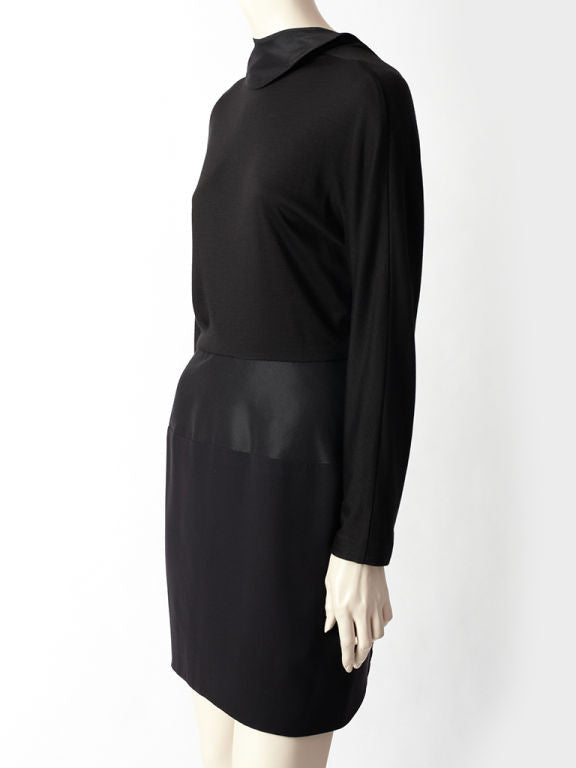 Geoffrey Beene Jersey and Faille Dress