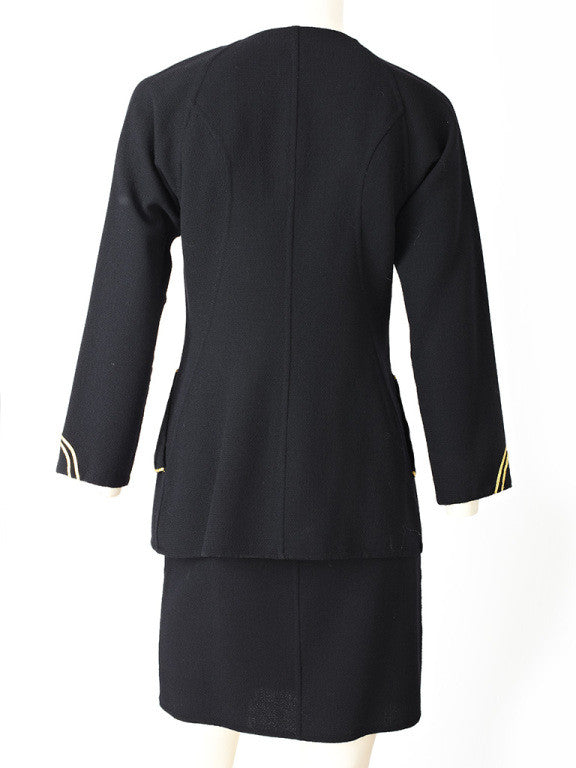 Geoffrey Beene Wool Crepe Dinner Ensemble