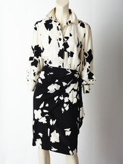 Bill Blass Graphic Print Dress